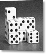 Dice Cubes I Metal Print by Tom Mc Nemar