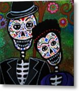 Diego Rivera And Frida Kahlo Metal Print