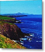 Dingle Coastline Near Fahan Ireland Metal Print