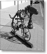 Dinosaur Biking Sculpture Grand Junction Co Metal Print