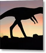 Dinosaur Loose On Route 66 Metal Print
