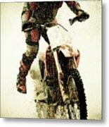 Dirt Bike Rider Metal Print by Thorpeland Photography
