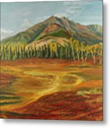 Disappearing Lake Metal Print by Amy Reisland-Speer