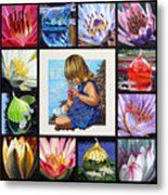 Discovering The Beuty Of The Lily Metal Print