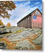 Display Of Colors - Roxbury Barn  Metal Print by Thomas Schoeller