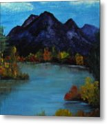 Distant Mountain View Metal Print