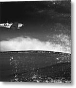 Distressed Spitfire Metal Print
