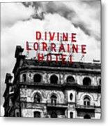 Divine Lorraine Hotel Marquee Metal Print