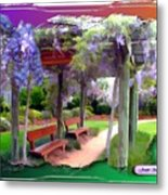 Do-00011 Wisteria Walk Metal Print