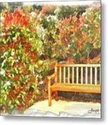 Do-00122 Inviting Bench Metal Print
