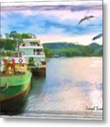 Do-00260 Strahan Port Metal Print