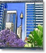 Do-00285 Sydney Centre Tower In Spring Metal Print