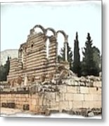 Do-00306 Old Ruins In Anjar Metal Print