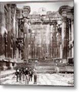 Do-00316 Inside The Temple Of  Bacchus - Baalbeck Metal Print