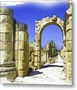 Do-00407 Roman Portico In Tyr Metal Print