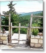 Do-00458 Fence Mar Charbel Chabel Metal Print
