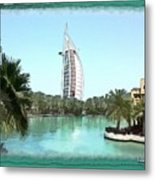 Do-00464 View Of Burj Al-arab Metal Print