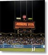 Dodgers Win Metal Print by Malania Hammer