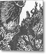 Doe And Weasel Metal Print