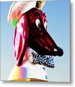 Doggie Diner Sign Metal Print by Samuel Sheats
