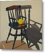 Doll's Chair With Lemon Metal Print