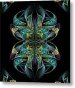 Dolphin Dance Flower Metal Print by Ricky Kendall