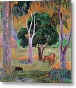 Dominican Landscape Metal Print by Paul Gauguin