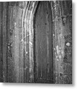 Door At Protestant Church Macroom Ireland Metal Print