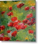 Door County Poppies Metal Print