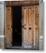 Door Entrance To Church In Guatemala Metal Print