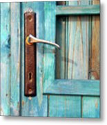 Door Handle Metal Print by Carlos Caetano