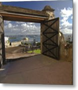 Doors Open To View Of San Juan Metal Print