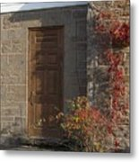 Doorway At The Stone House - Photograph Metal Print