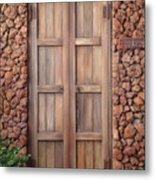 Doorway Steps Back In Time Metal Print