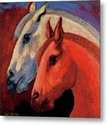 Dos Equus Metal Print by Bob Coonts