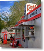 Dot's Diner In Bisbee Metal Print
