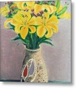 Dotted Vase Metal Print
