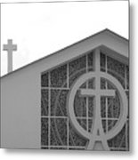 Double Cross Church Metal Print
