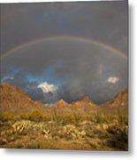 Double Rainbow Tucson Arizona Metal Print