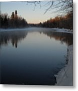 Downstream Mississippi River After Ice Out Metal Print
