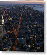 Downtown From Midtown Metal Print