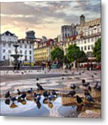 Downtown Lisbon Metal Print by Carlos Caetano