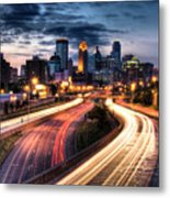 Downtown Minneapolis Skyscrapers Metal Print by Greg Benz