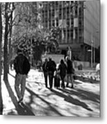 Downtownscape - Black And White Metal Print