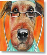 Dr. Dog Metal Print by Michelle Hayden-Marsan