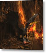 Dragon Flame Metal Print