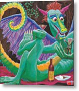 Dragon Sups Metal Print