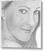 Drew Barrymore Metal Print
