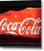 Drink Coke Metal Print