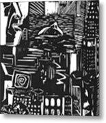 Drowning In Metropolis Metal Print